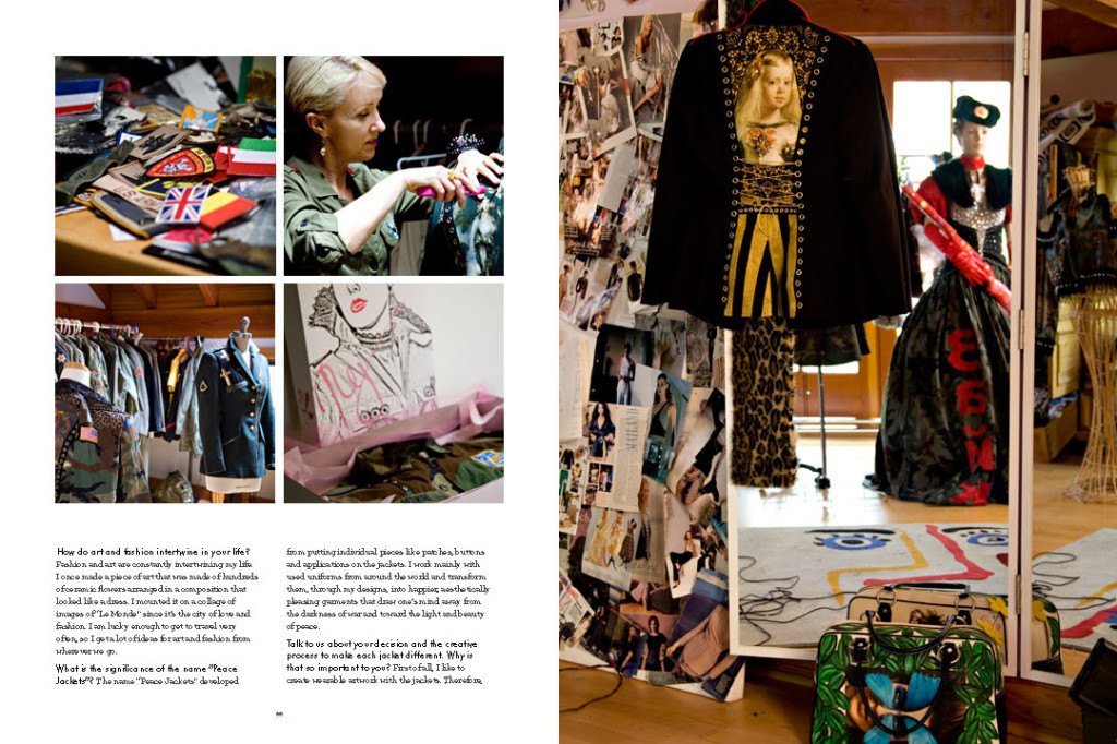 Four Magazine Article About Fashion Designer Regine Bechtlerpeace Jackets